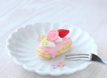 いちごクリームがとろ~り☆エクレアのマグネット